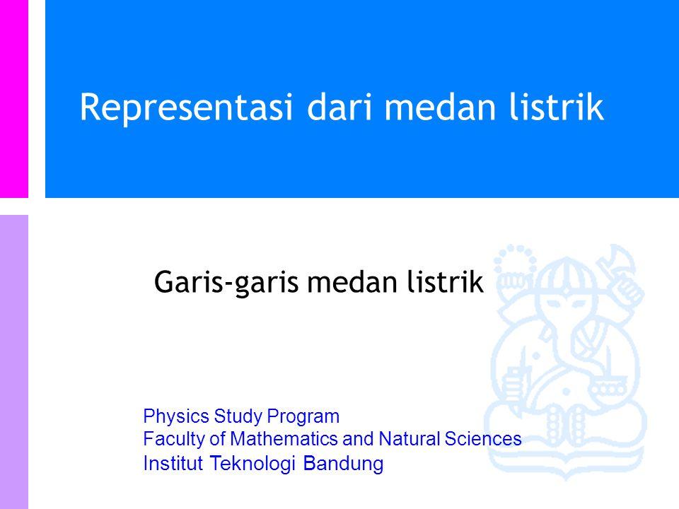 Physics Study Program - FMIPA | Institut Teknologi Bandung PHYSI S Medan dari muatan kontinu 2D Hasil di atas valid untuk x>0.