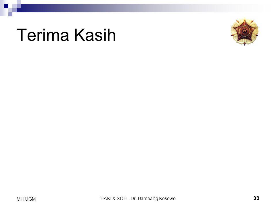 HAKI & SDH - Dr. Bambang Kesowo33 MH UGM Terima Kasih