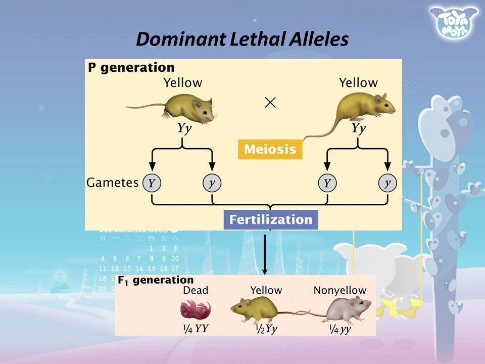 Dominant Lethal Alleles