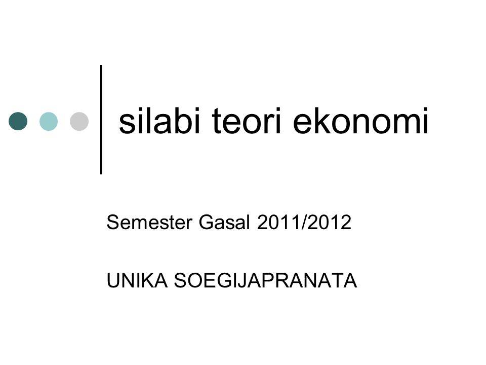 silabi teori ekonomi Semester Gasal 2011/2012 UNIKA SOEGIJAPRANATA