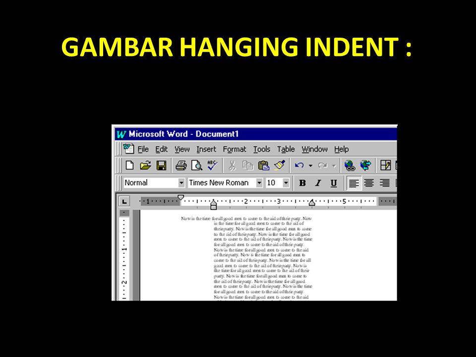 GAMBAR HANGING INDENT :