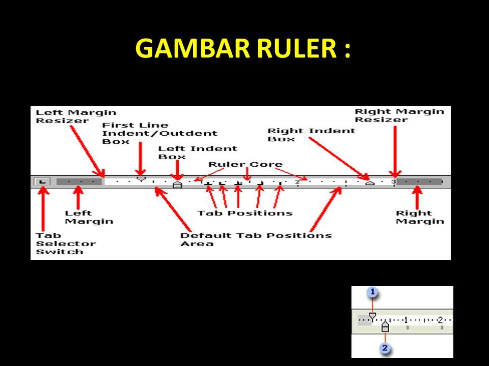 GAMBAR RULER :