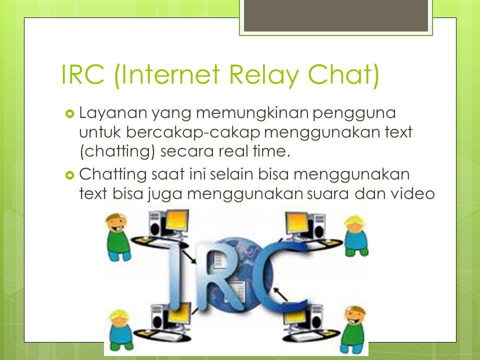 E-mail (Electronic Mail)  E-mail adalah layanan yang digunakan untuk mengirimkan surat dalam bentuk digital, surat tersebut bisa ditambahkan dengan file dokumen, gambar, audio, video maupun lainnya