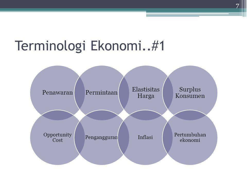 Terminologi Ekonomi..#2 Ahli ekonomi layaknya seperti ilmuwan yang memiliki kemampuan menganalisis dan berpikir objektif Metode yang digunakan bersifat ilmiah dengan mengembangkan teori, mengumpulkan data, kemudian menganalisis data untuk mengevaluasi teori tersebut Adanya sebuah asumsi yang digunakan untuk mensimplifikasi sebuah permasalahan 8