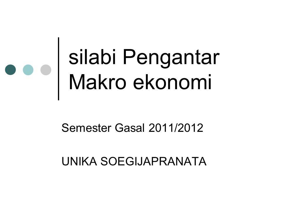silabi Pengantar Makro ekonomi Semester Gasal 2011/2012 UNIKA SOEGIJAPRANATA