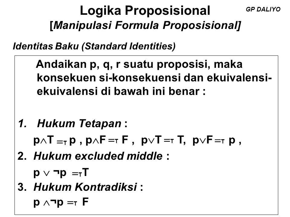 Logika Proposisional [Manipulasi Formula Proposisional] 4.