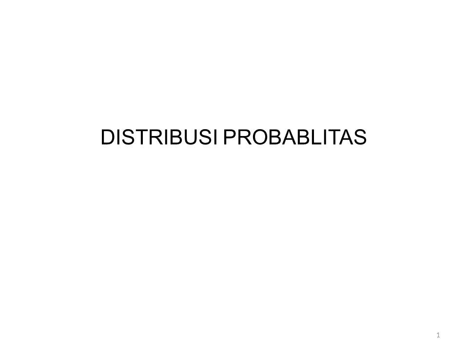 Pengantar: Di bidang statistika, bentuk distribusi probabilitas perlu dipelajari untuk memahami dan menafsirkan implikasi umum dari studi staistik yang lebih lanjut.