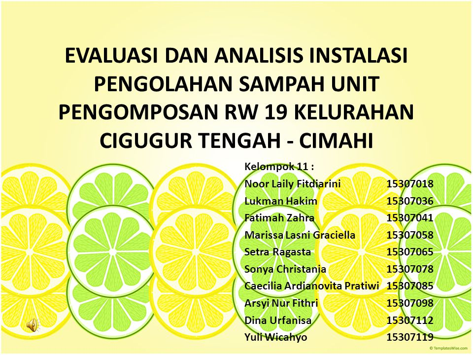 LATAR BELAKANG Peningkatan penduduk  peningkatan permasalahan sampah Keterbatasan lahan untuk TPA  diperlukannya penanganan sampah terpadu Sampah di Indonesia 70% organik Komposting  alternatif penanganan sampah organik