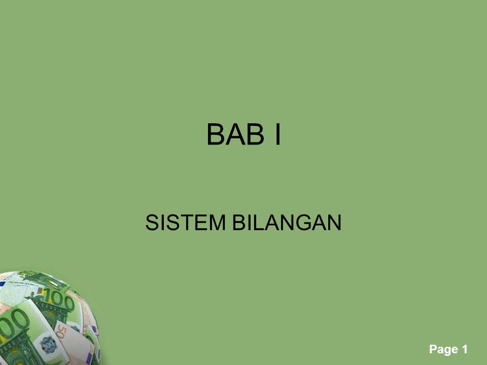 Powerpoint Templates Page 1 BAB I SISTEM BILANGAN