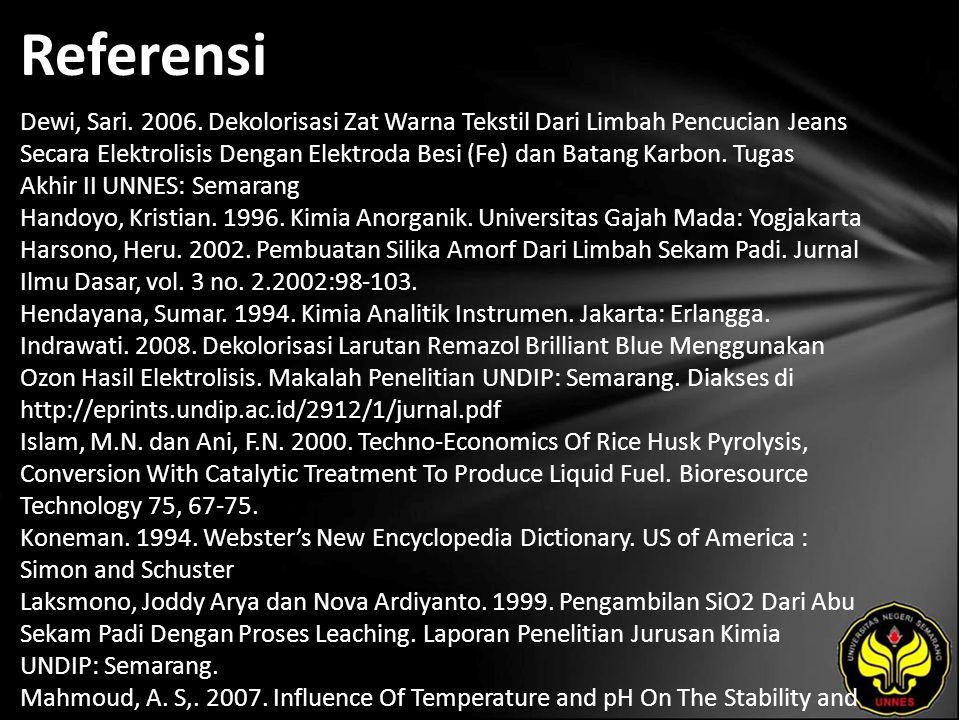 Referensi Dewi, Sari. 2006.