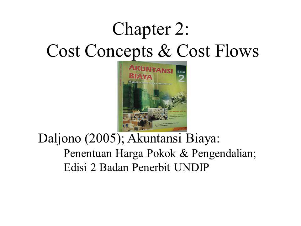 Chapter 2: Cost Concepts & Cost Flows Daljono (2005); Akuntansi Biaya: Penentuan Harga Pokok & Pengendalian; Edisi 2 Badan Penerbit UNDIP
