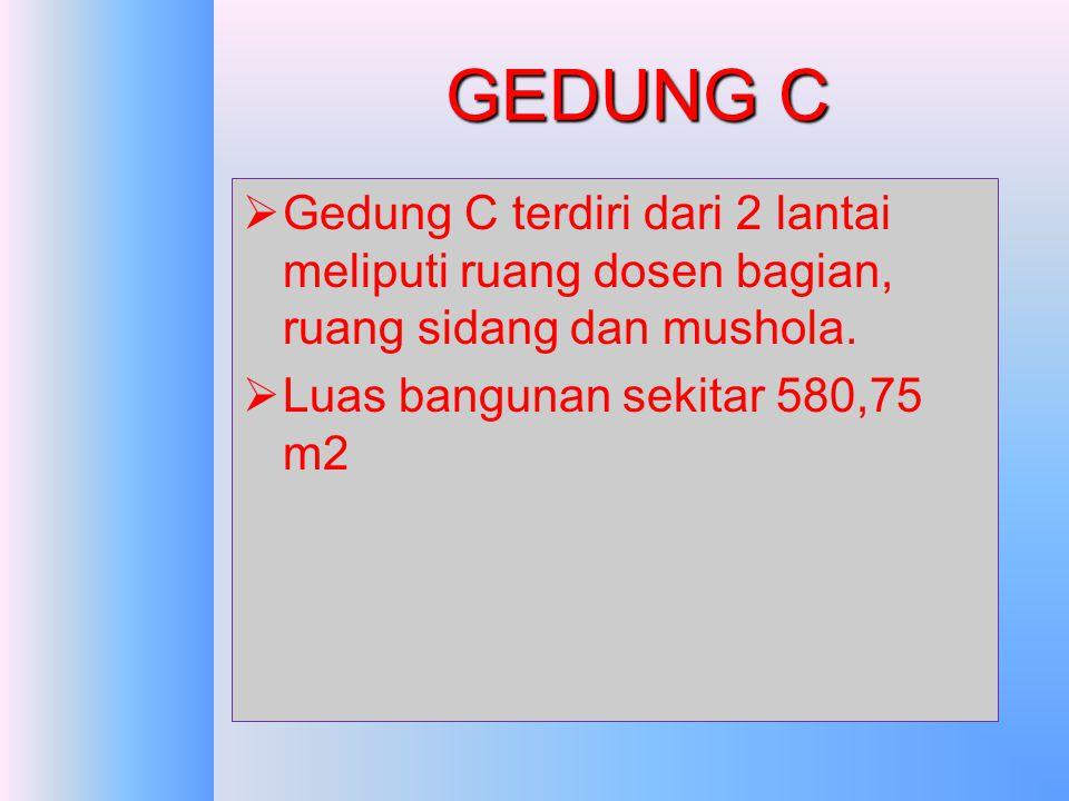 GEDUNG B LT.3 Lantai 3 terdiri dari ruang perkuliahan: -R.B301 kapasitas 80 kursi -R.B302 kapasitas 80 kursi -R.B303 kapasitas 60 kursi -R.B304 kapasi