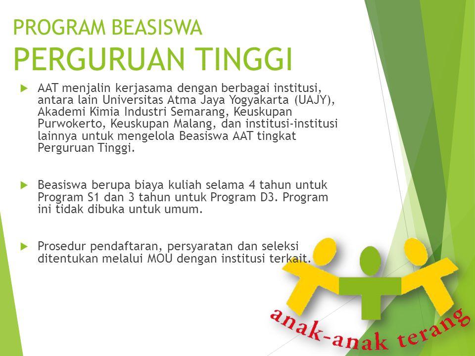  AAT menjalin kerjasama dengan berbagai institusi, antara lain Universitas Atma Jaya Yogyakarta (UAJY), Akademi Kimia Industri Semarang, Keuskupan Pu