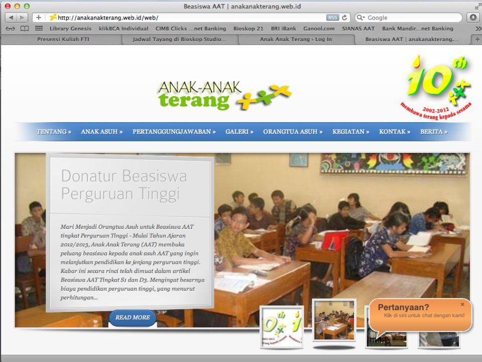 Sekretariat Beasiswa AAT – Purwokerto d.a.Keuskupan Purwokerto Jln.