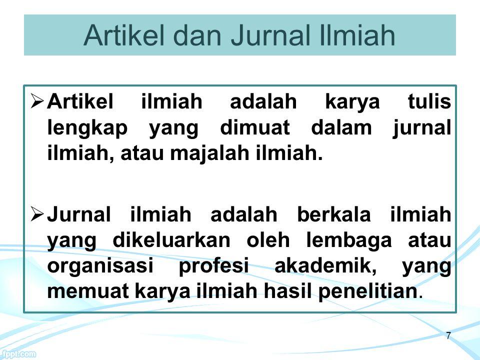 Kiat Menulis Artikel 3.