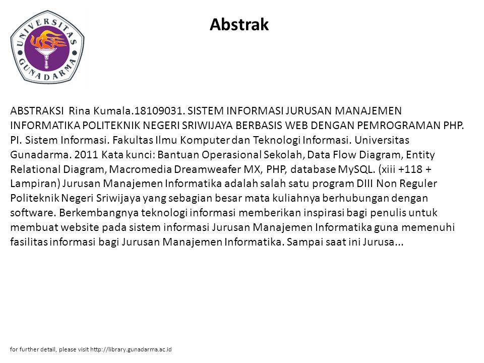 Abstrak ABSTRAKSI Rina Kumala.18109031.