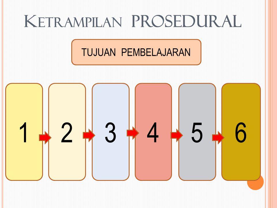 K ETRAMPILAN PROSEDURAL TUJUAN PEMBELAJARAN 123456