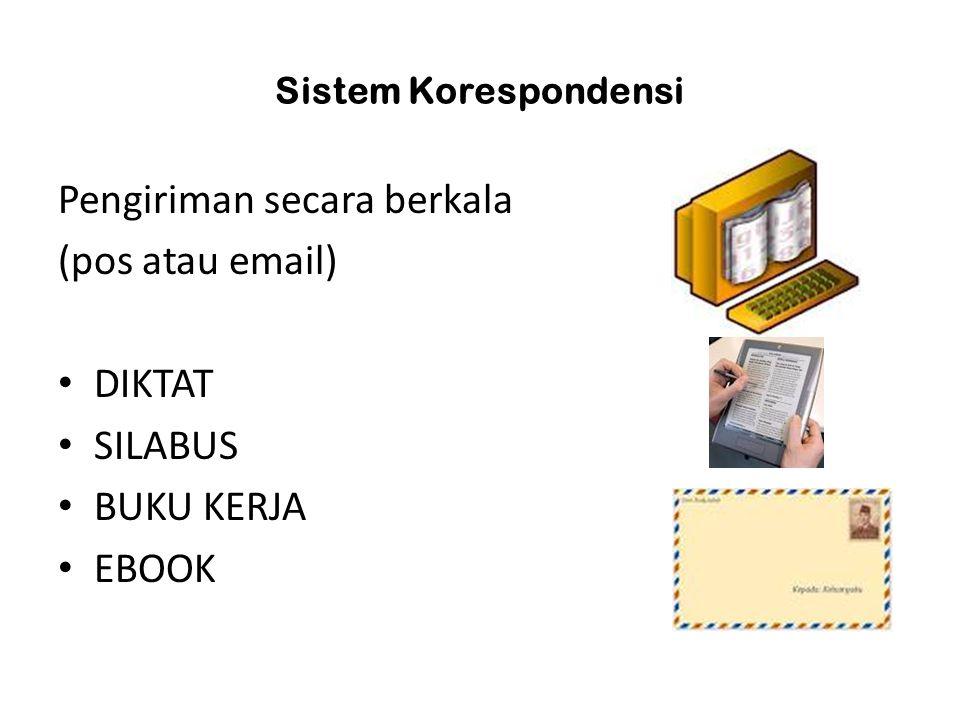 Pengiriman secara berkala (pos atau email) DIKTAT SILABUS BUKU KERJA EBOOK Sistem Korespondensi