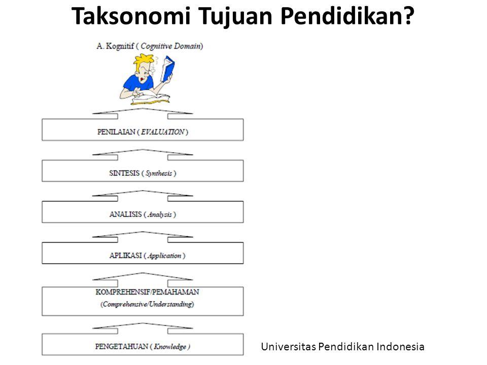 Taksonomi Tujuan Pendidikan? Universitas Pendidikan Indonesia