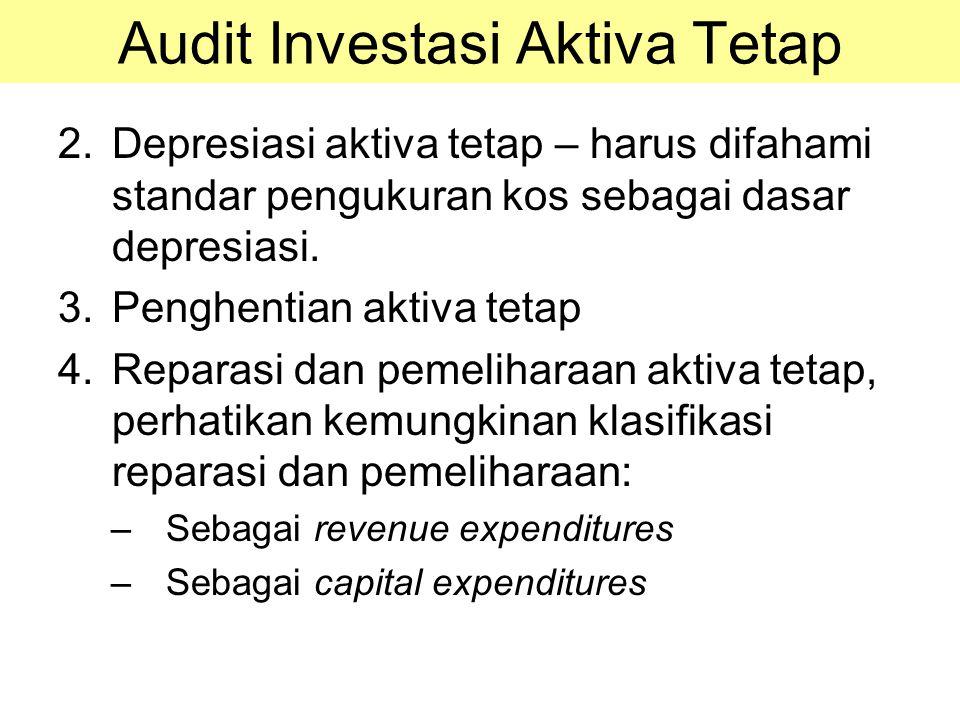 2.Depresiasi aktiva tetap – harus difahami standar pengukuran kos sebagai dasar depresiasi. 3.Penghentian aktiva tetap 4.Reparasi dan pemeliharaan akt