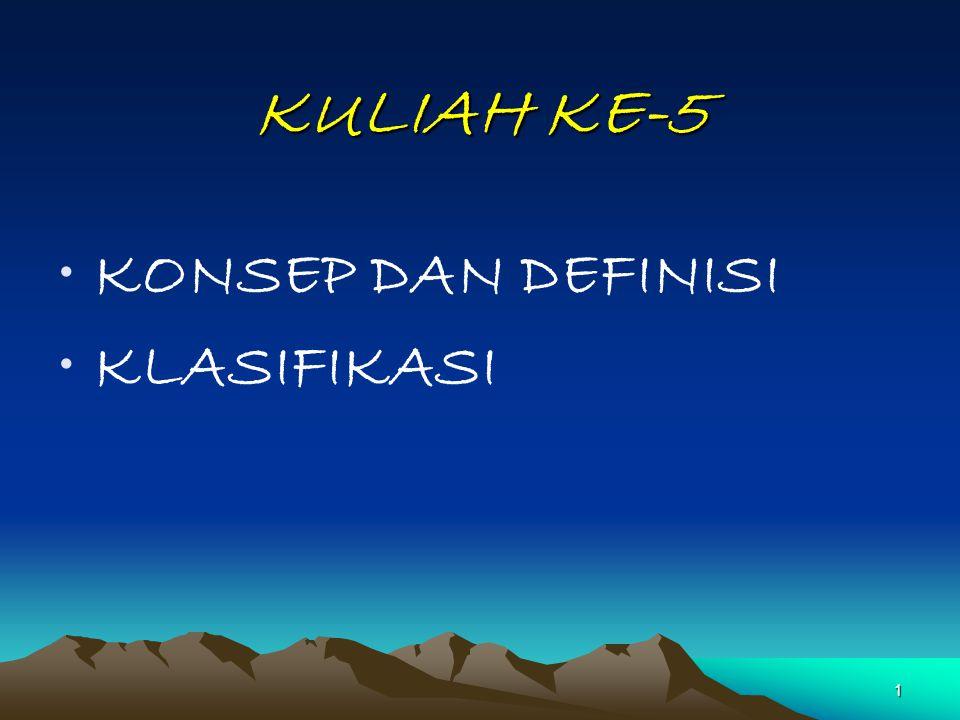 1 KULIAH KE-5 KONSEP DAN DEFINISI KLASIFIKASI