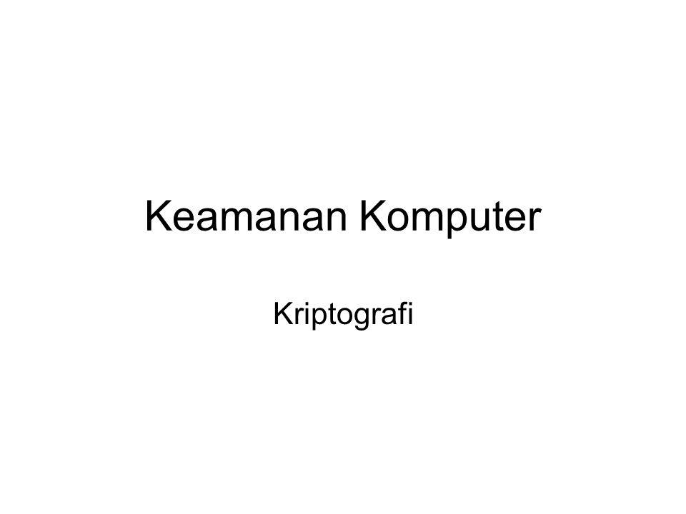 12 Terminologi Kriptologi (cryptology): studi mengenai kriptografi dan kriptanalisis.