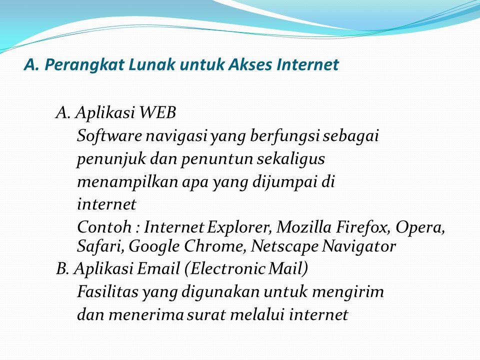 A.Perangkat Lunak untuk Akses Internet A.