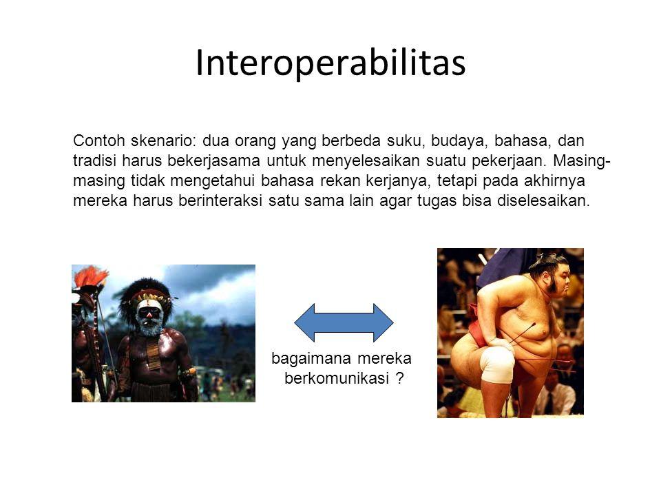 Interoperabilitas bagaimana mereka berkomunikasi .