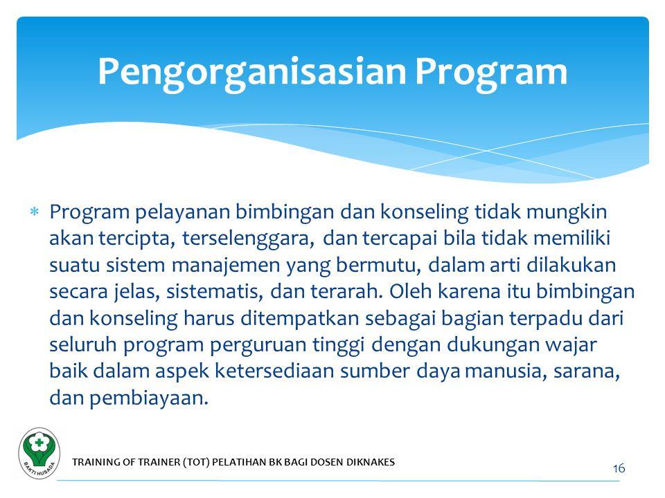  Program bimbingan dan konseling perlu dilaksanakan dalam bentuk (a) kontak langsung, dan (b) tanpa kontak langsung dengan peserta didik.  Untuk keg