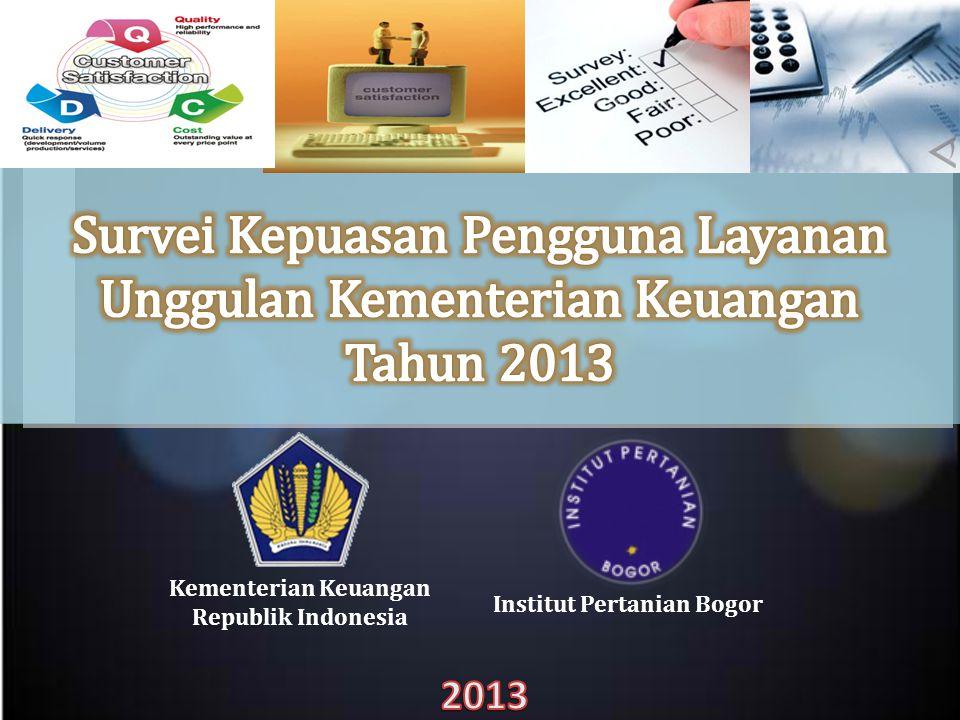 Capaian Jumlah Responden (Target 2600) Kantor Unit Layanan TotalJakartaMedanSurabayaBalikpapanMakasarBatam DJP 7913051211158483 DJBC 5832329295493877 DJA 138.....