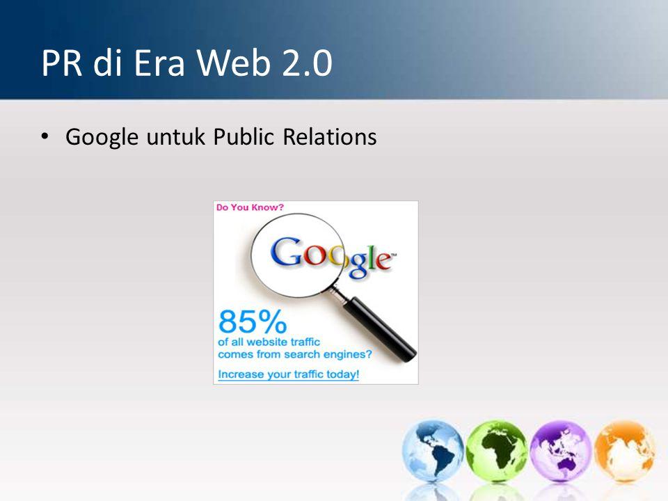 PR di Era Web 2.0 Google untuk Public Relations