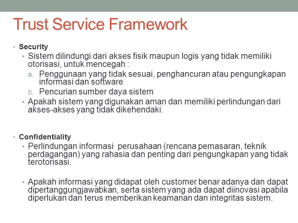 Security Sistem dilindungi dari akses fisik maupun logis yang tidak memiliki otorisasi, untuk mencegah : a. Penggunaan yang tidak sesuai, penghancuran