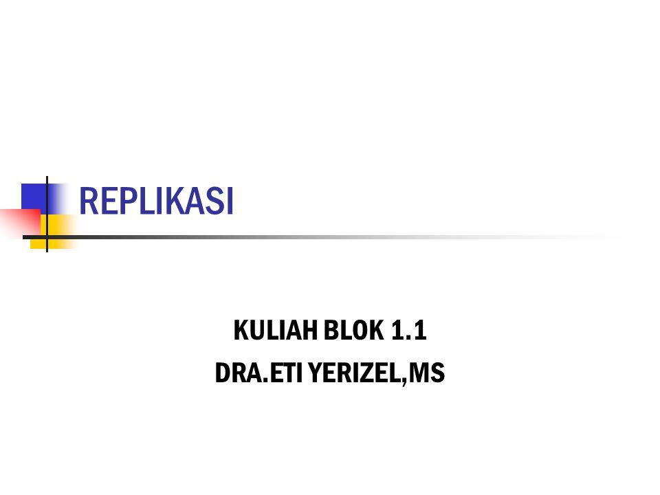REPLIKASI KULIAH BLOK 1.1 DRA.ETI YERIZEL,MS