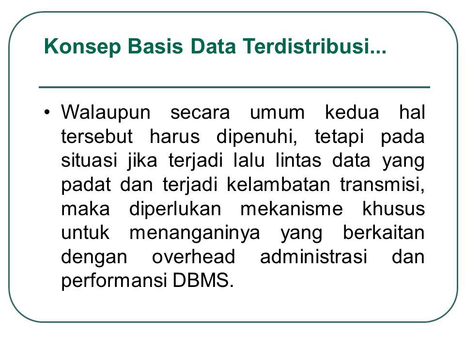 Walaupun secara umum kedua hal tersebut harus dipenuhi, tetapi pada situasi jika terjadi lalu lintas data yang padat dan terjadi kelambatan transmisi,