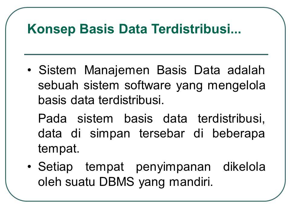 Sistem Manajemen Basis Data adalah sebuah sistem software yang mengelola basis data terdistribusi. Pada sistem basis data terdistribusi, data di simpa