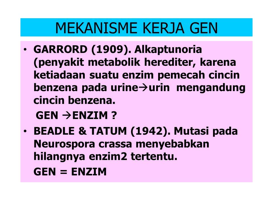 Gen, Ekspresi Gen, dan Mekanisme Kerja Gen Gen ?? 1865  Mendel  Teori Gen 1900  de Vries dkk. menguji  menerimaTeori Mendel 1902  de Vries  Teor
