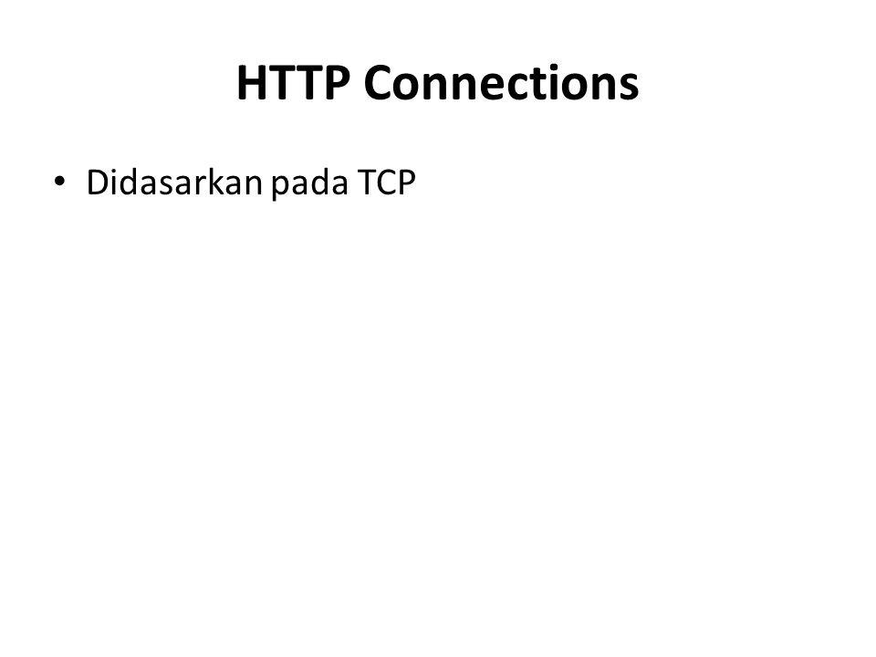 HTTP Connections Didasarkan pada TCP