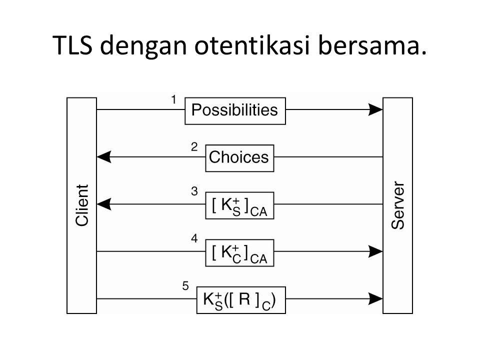 TLS dengan otentikasi bersama.