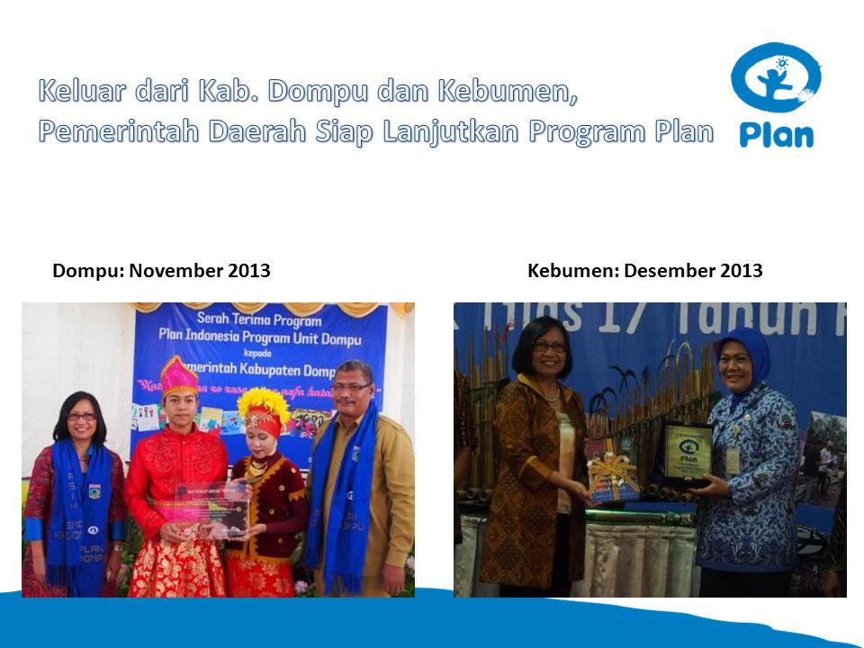Dompu: November 2013Kebumen: Desember 2013
