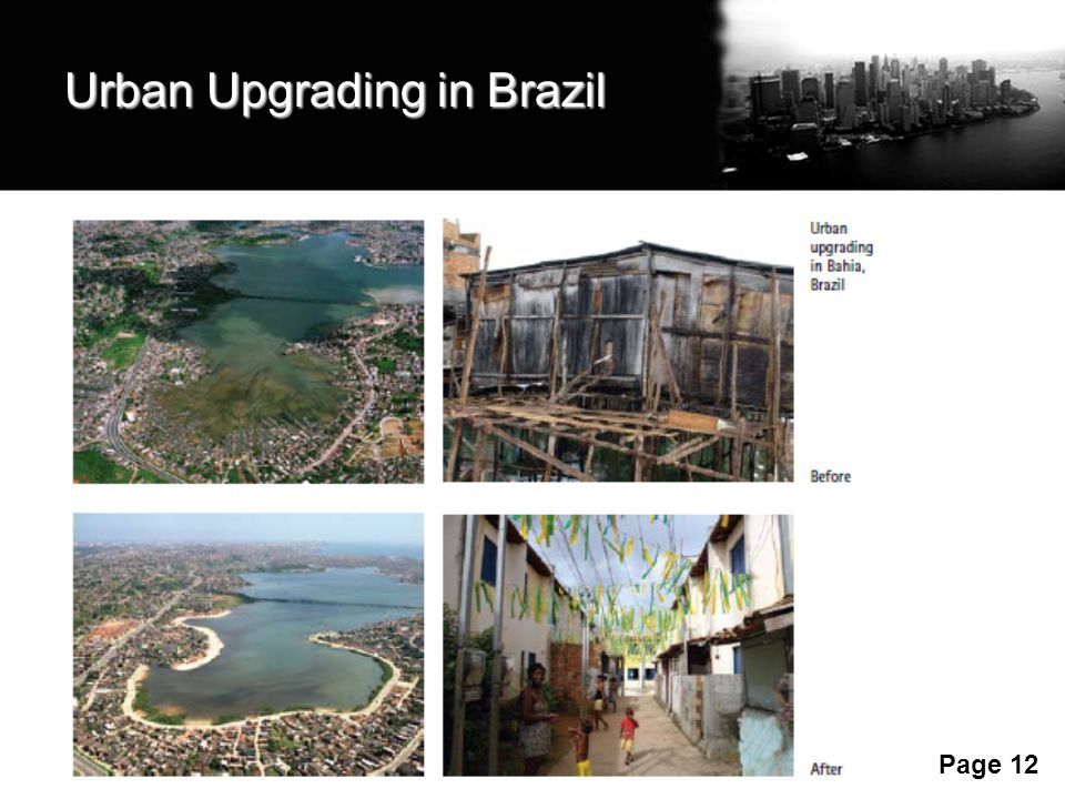 Free Powerpoint Templates Page 12 Urban Upgrading in Brazil