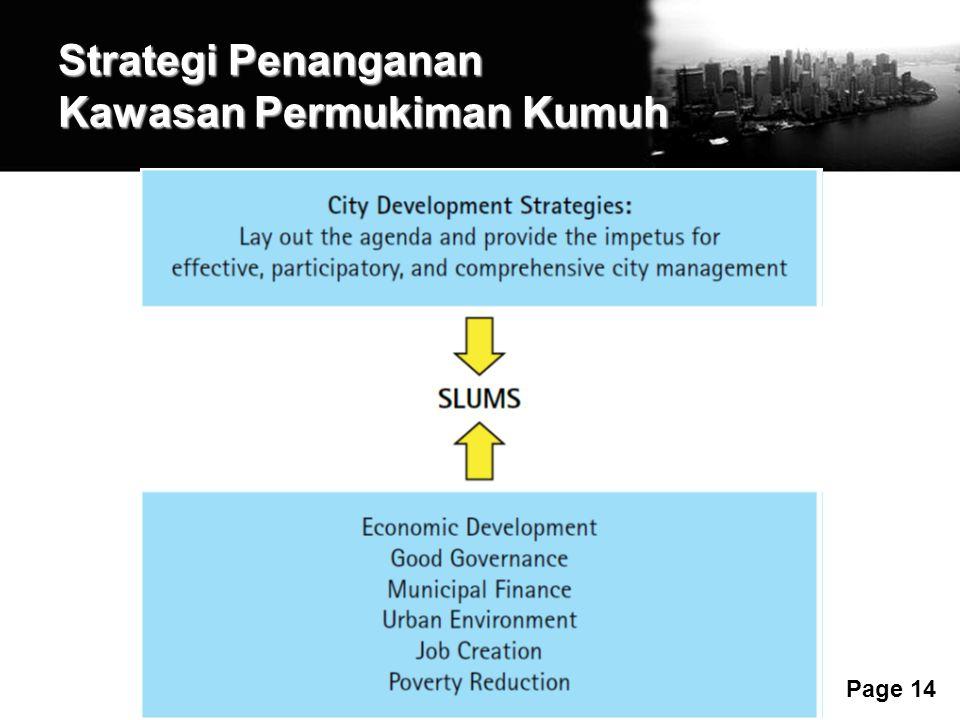 Free Powerpoint Templates Page 14 Strategi Penanganan Kawasan Permukiman Kumuh