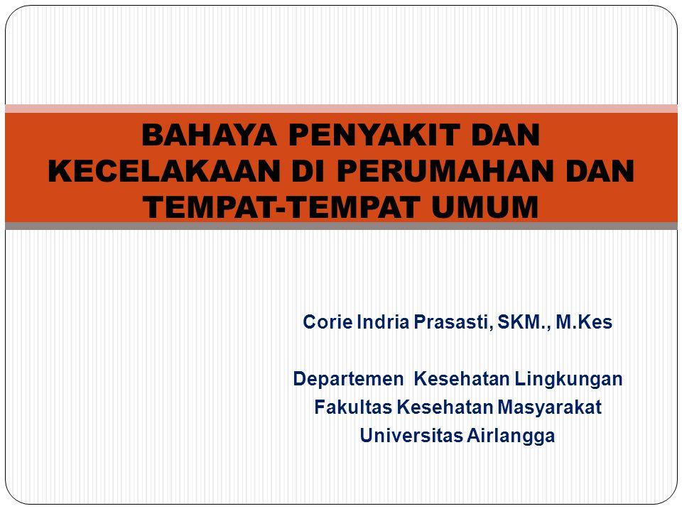 Corie Indria Prasasti, SKM., M.Kes Departemen Kesehatan Lingkungan Fakultas Kesehatan Masyarakat Universitas Airlangga BAHAYA PENYAKIT DAN KECELAKAAN