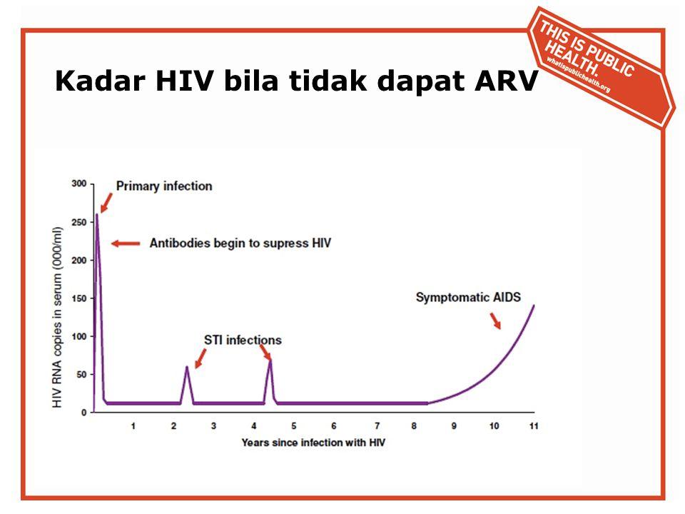 Kadar HIV bila tidak dapat ARV