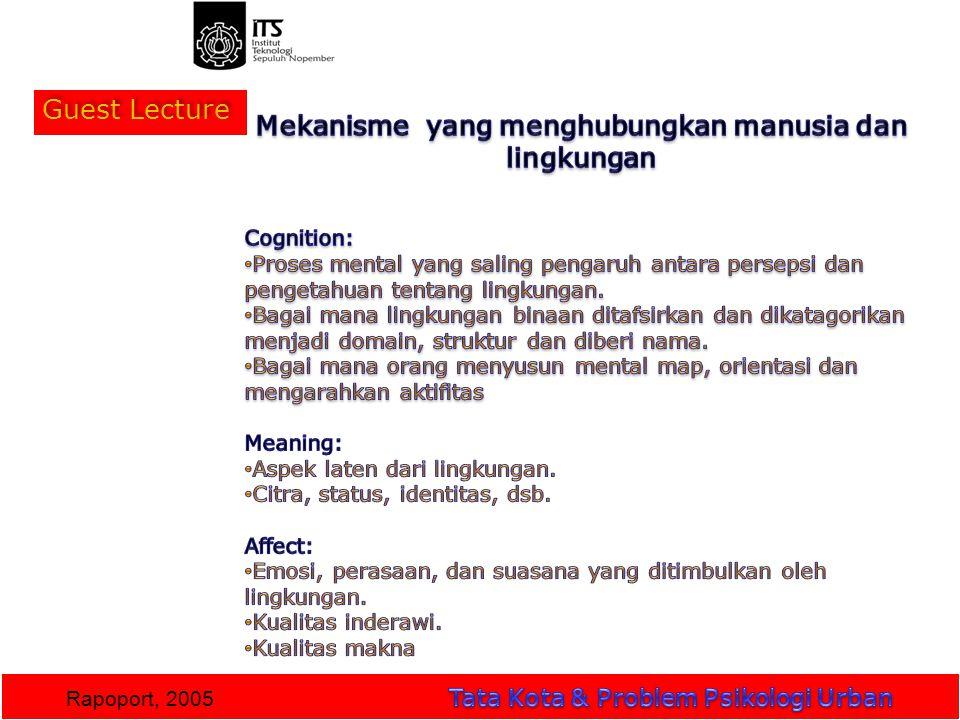 Guest Lecture Rapoport, 2005