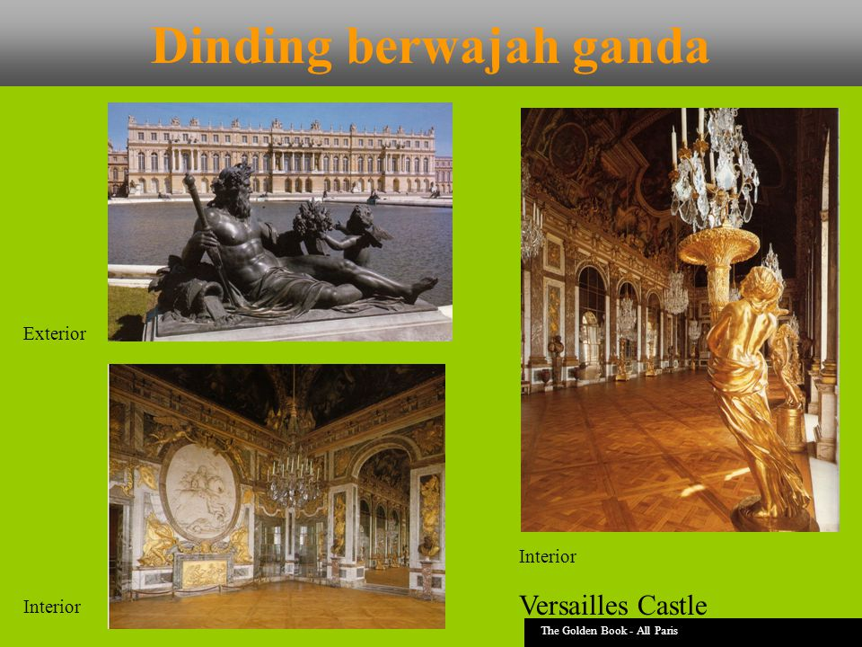 Dinding berwajah ganda The Golden Book - All Paris Versailles Castle Exterior Interior