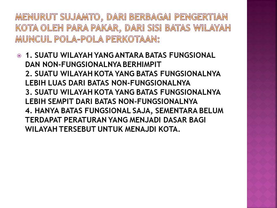  1. SUATU WILAYAH YANG ANTARA BATAS FUNGSIONAL DAN NON-FUNGSIONALNYA BERHIMPIT 2.