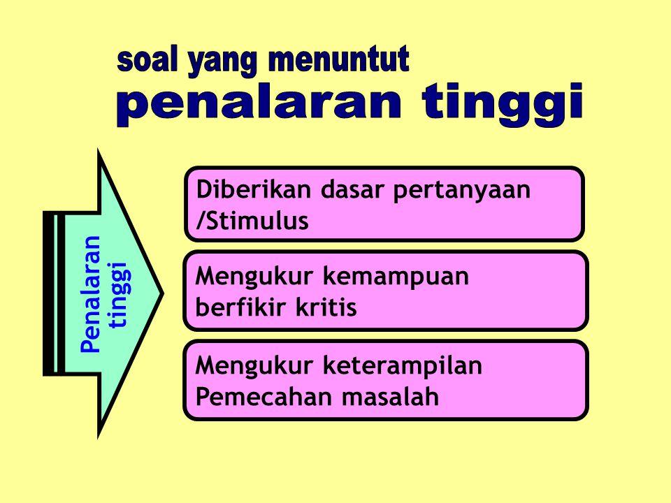 KARTU SOAL BENTUK PG Jenis Sekolah : SMP Penyusun : 1. ------------ Mata Pelajaran : TIK 2. ------------ Bahan Kelas/smt : IX/1 Alokasi Waktu: 1 Menit