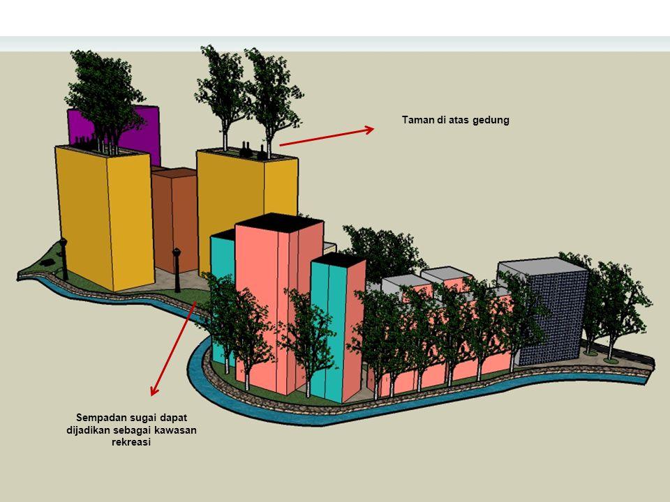 Sempadan sugai dapat dijadikan sebagai kawasan rekreasi Taman di atas gedung