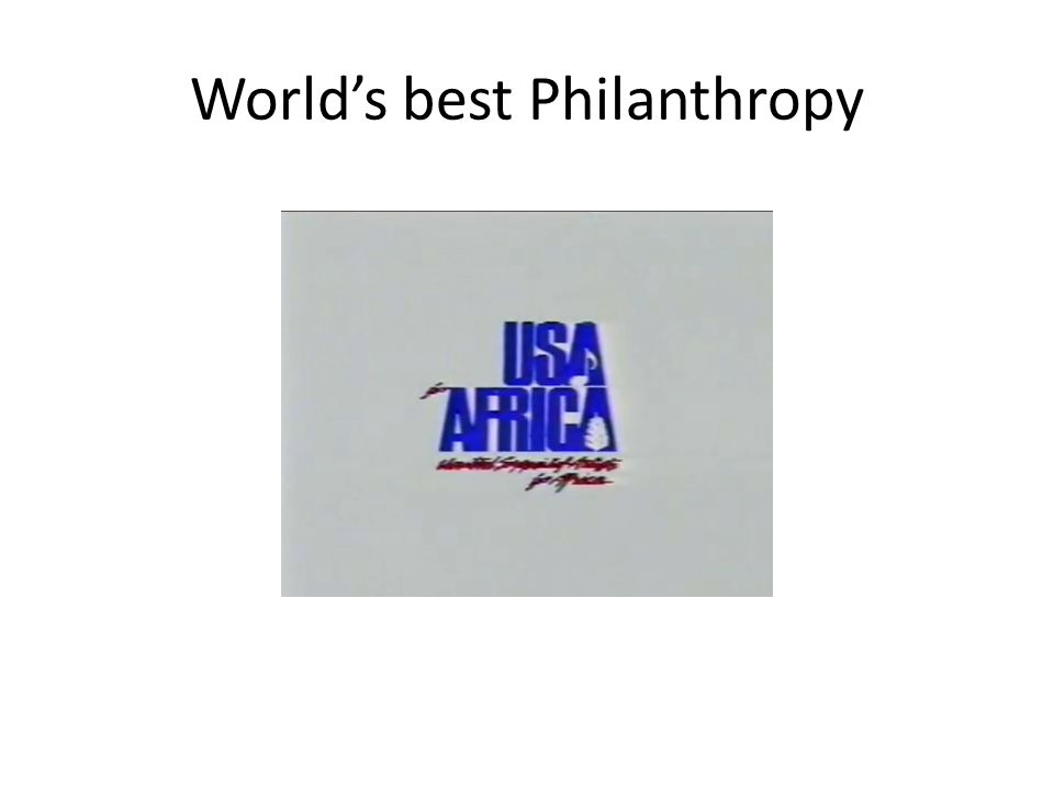 World's best Philanthropy
