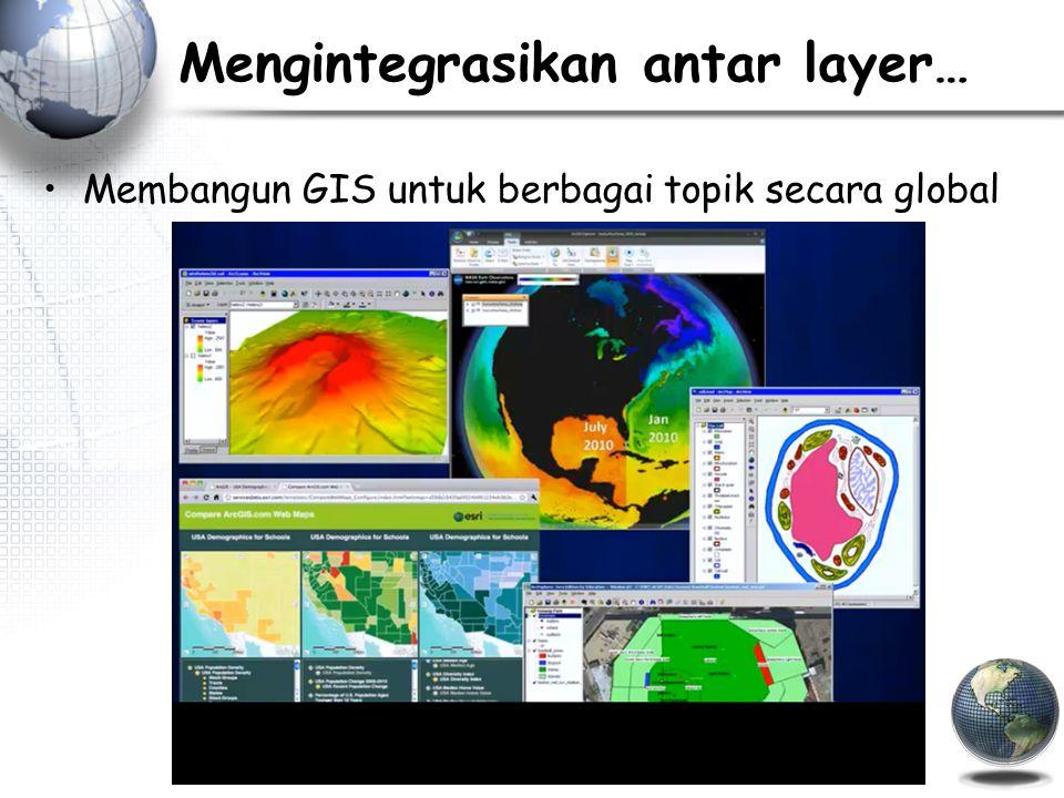 Mengintegrasikan antar layer… Membangun GIS untuk berbagai topik secara global
